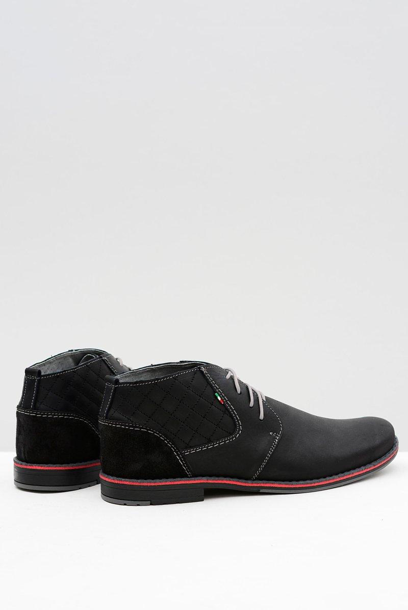 Black Leather Men Brogues Graziano