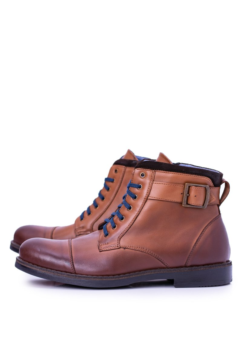 Boots Polish Men's Brown Trapers Boots Mintos