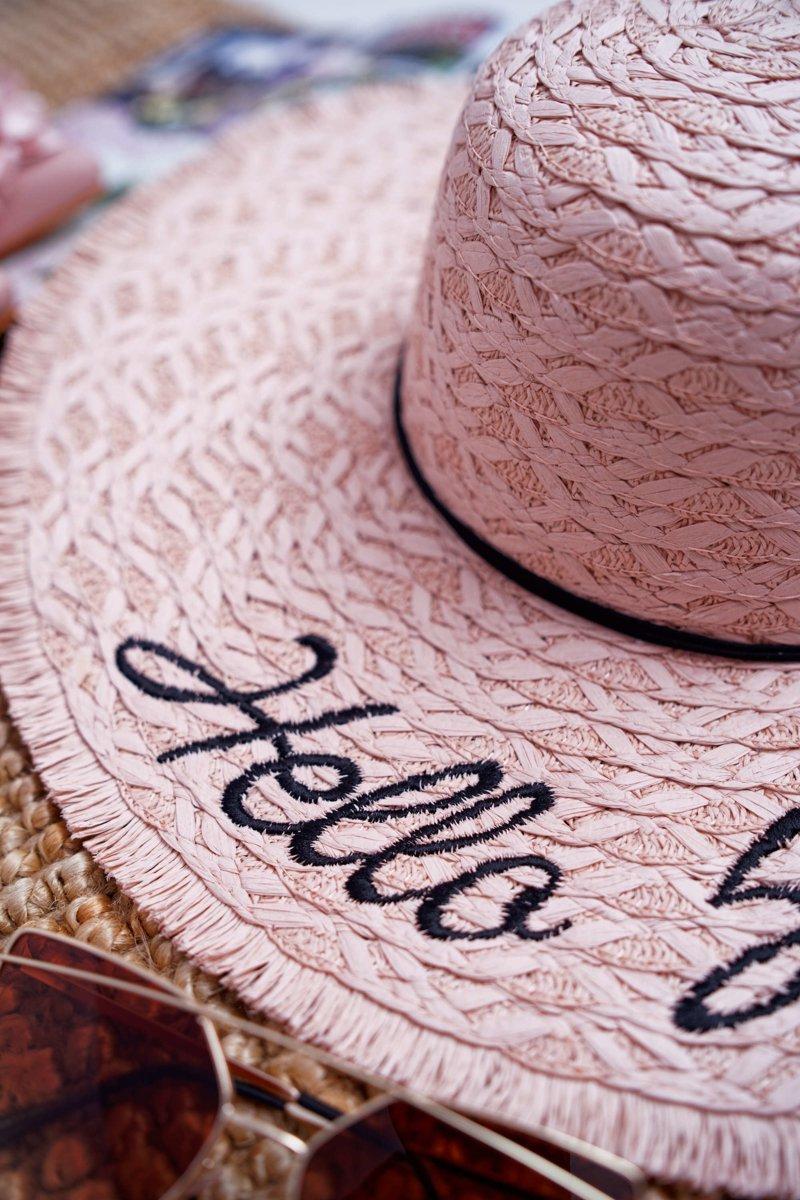 Braided Hat BRUNO ROSSI Hello Sunshine Pink