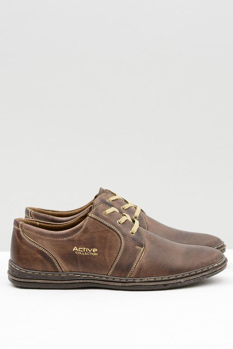 Brown Leather Men Shoes Marko