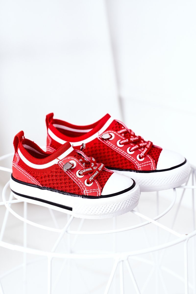 Children's Airy Sneakers Red Kids Club