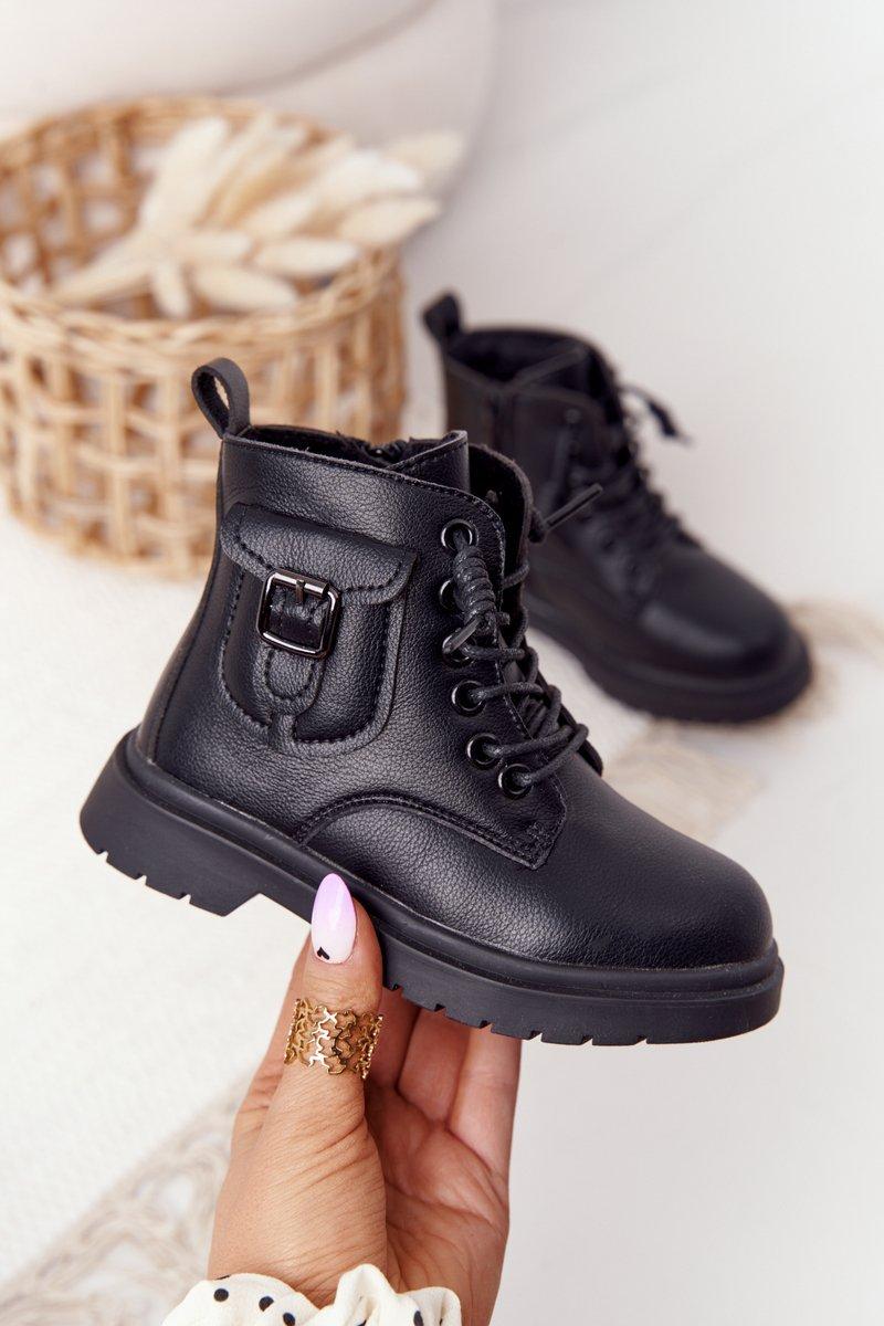 Children's Boots With Pocket Black TikTok