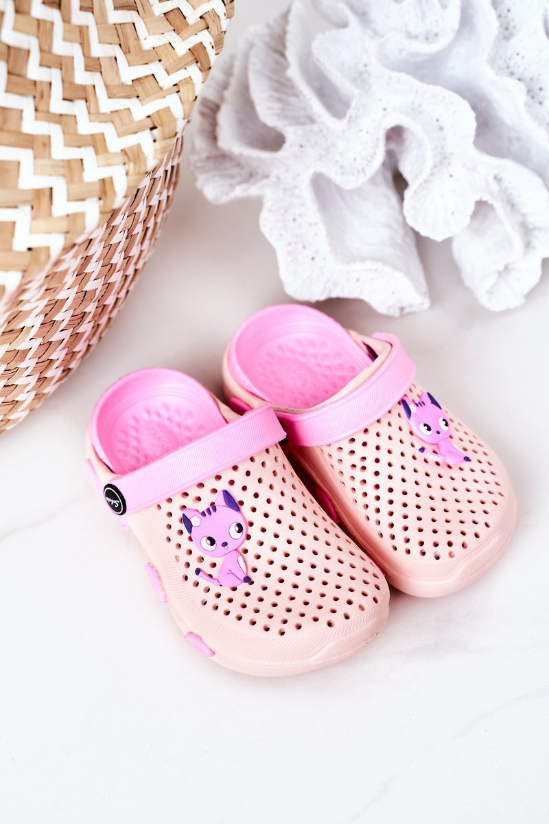 Children's Foam Slippers Crocs Pink Olivia