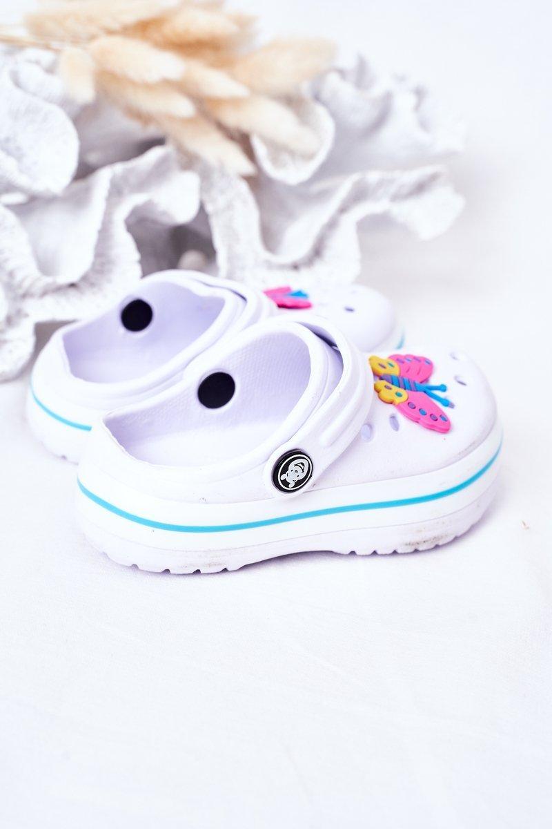Children's Foam Slippers Crocs White Lazy Day