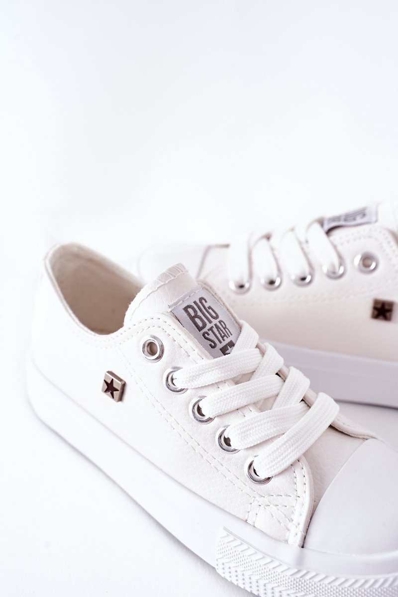 Children's Leather Sneakers BIG STAR FF374300 White