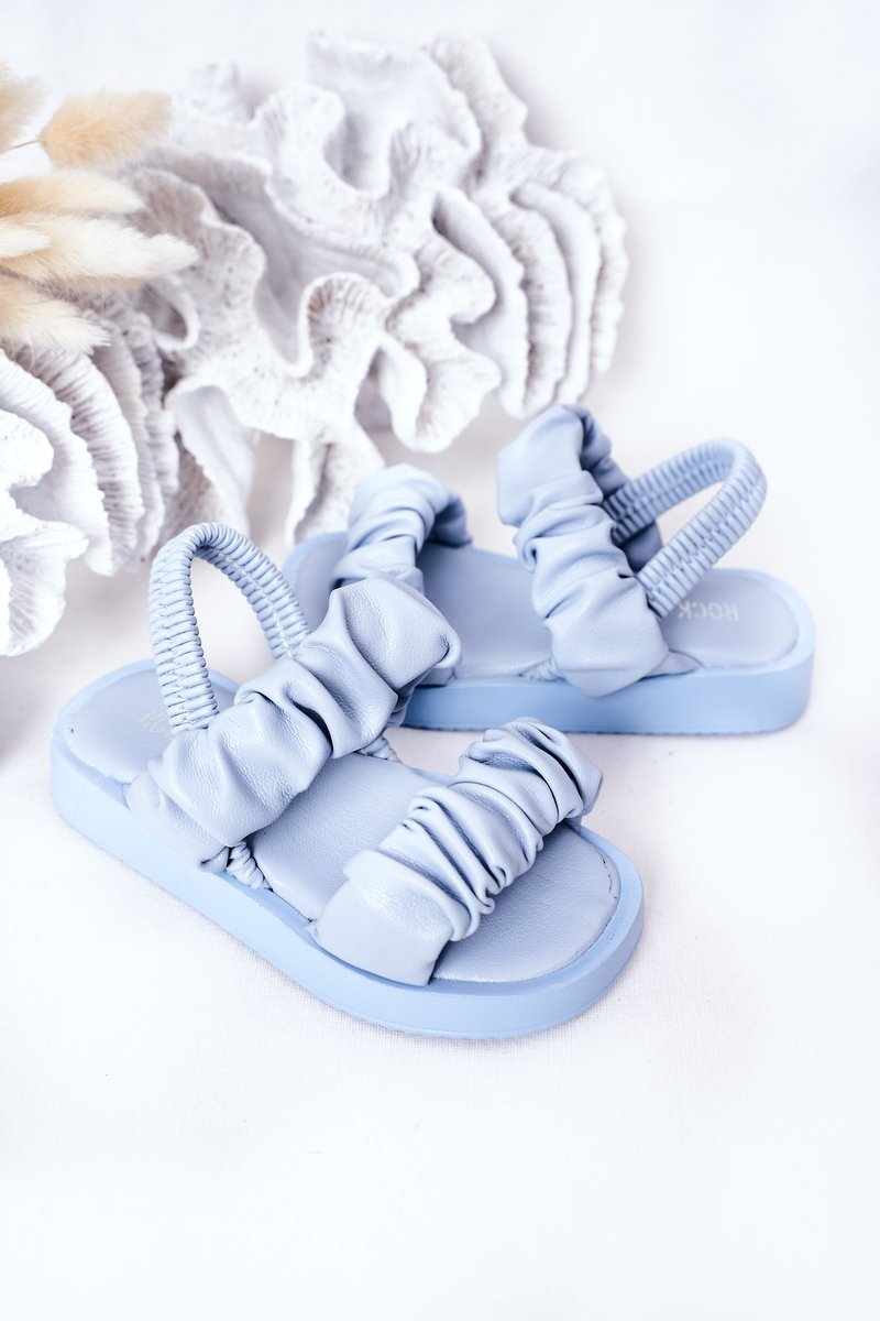 Children's Sandals With Drawstring Blue Sweetness