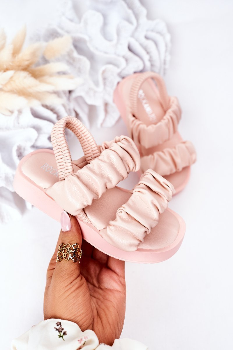 Children's Sandals With Drawstring Pink Sweetness