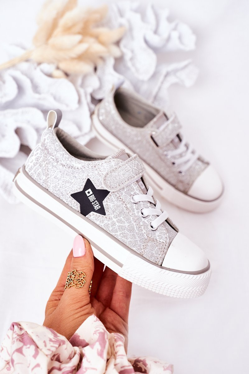Children's Sneakers With Velcro BIG STAR HH374025 Silver