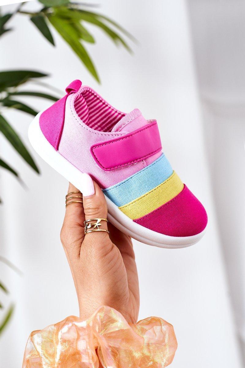 Children's Sneakers With Velcro Fuchsia Marta