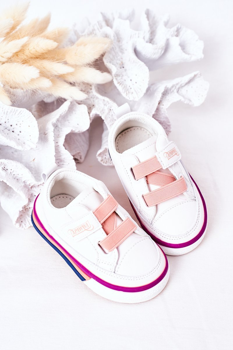 Children's Sneakers With Welt White Pink Baxter