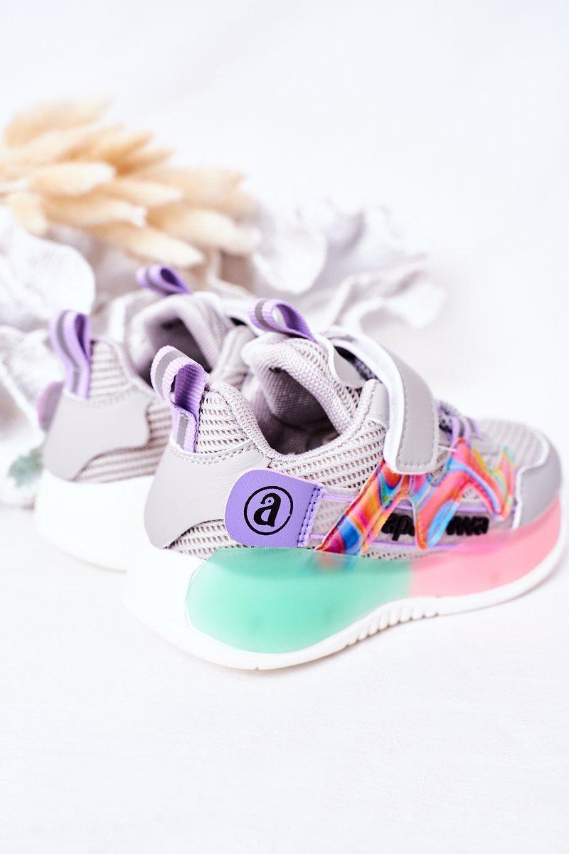 Children's Sport Shoes Sneakers Grey Jump Jump