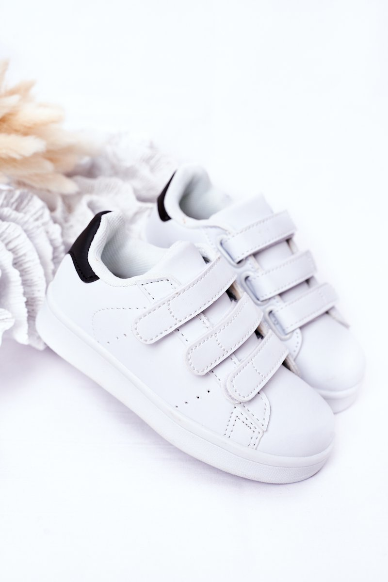 Children's Sports Shoes With Velcro White-Black Fifi