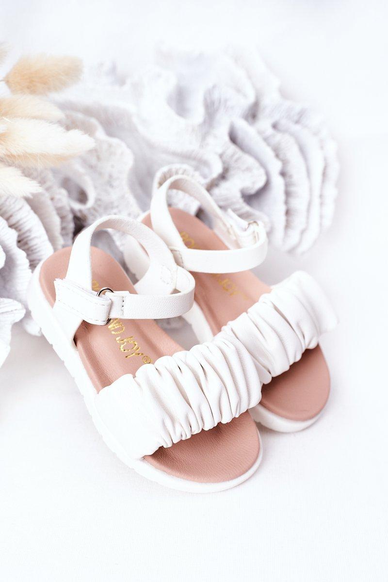 Children's Velcro Sandals White Aimy