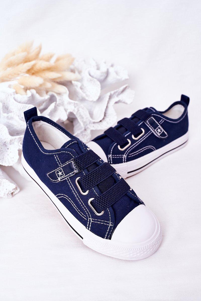 Children's Velcro Sneakers Navy Blue Avengers