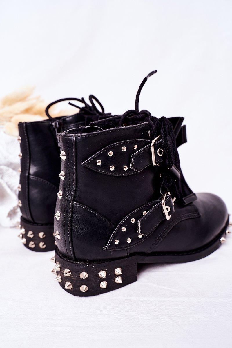 Children's Warm Boots With Studs Lu Boo Black