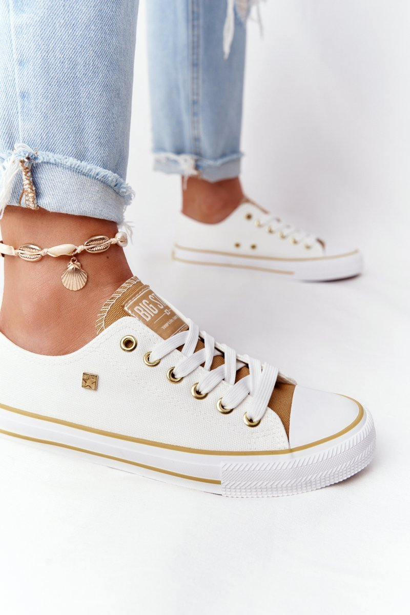 Classic Women's Sneakers BIG STAR HH274458 Off White