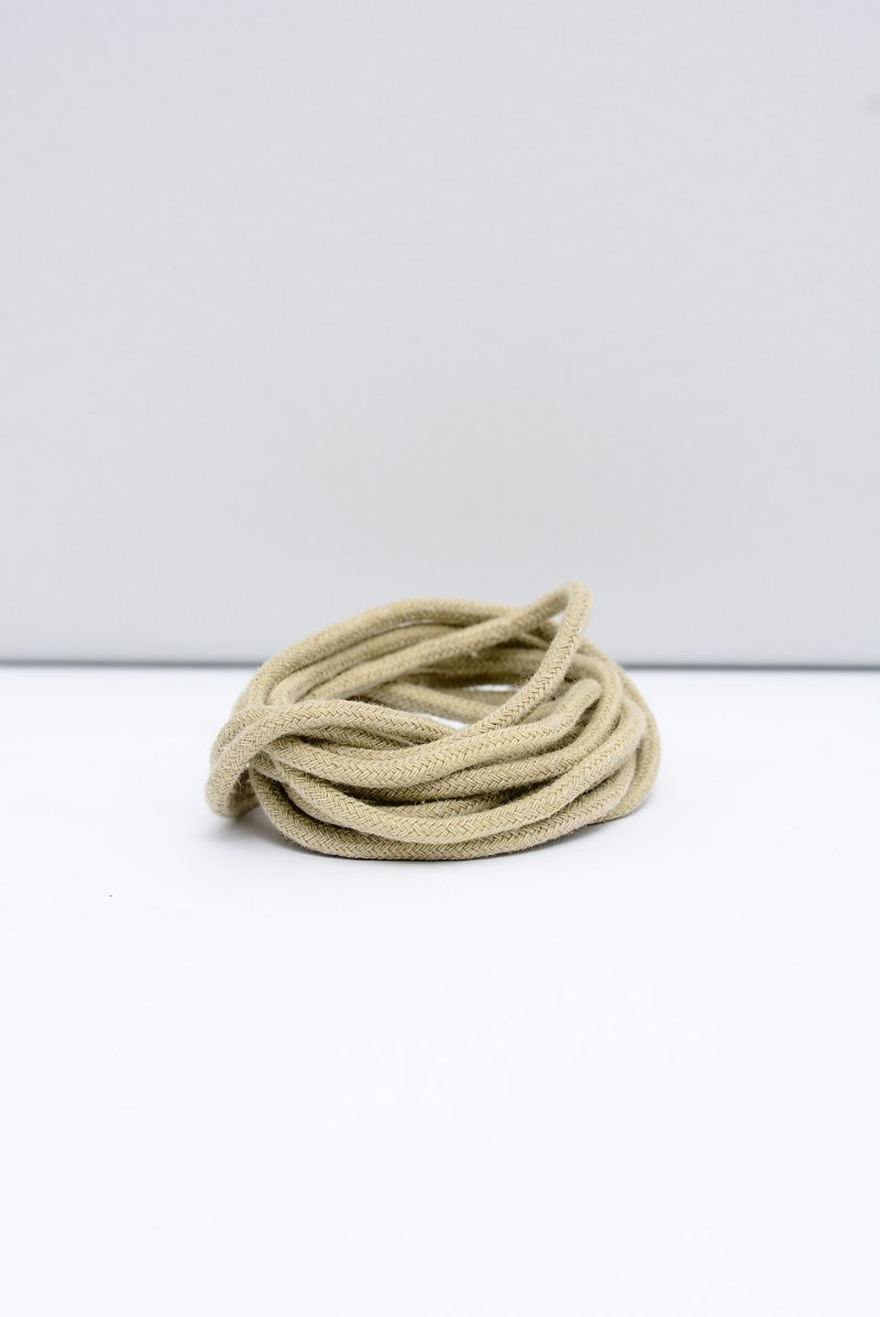 Corbby Beige Round Shoelaces