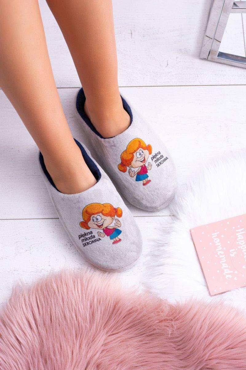 Dreex Women's Plush Slippers Piękna Młoda Skromna