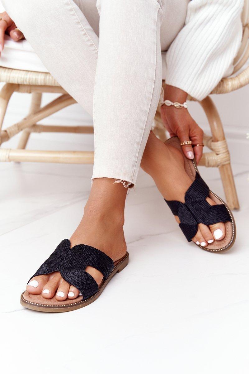 Elegant Women's Slippers S.Barski Black