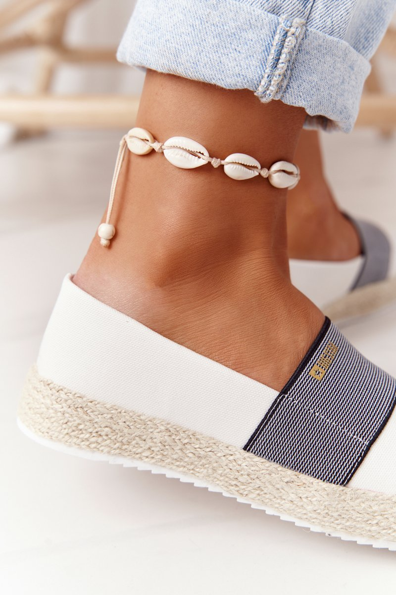 Espadrilles On A Braided Sole Big Star HH274480 White