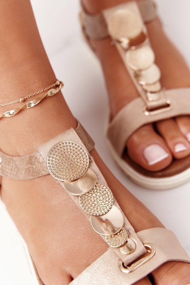 Flat Women's Sandals Taupe Milton