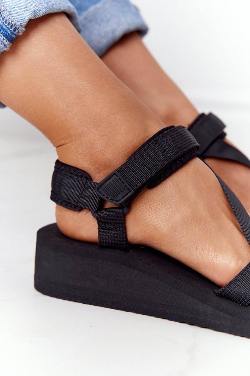 Foam Wedge Sandals Big Star FF274A349 Black