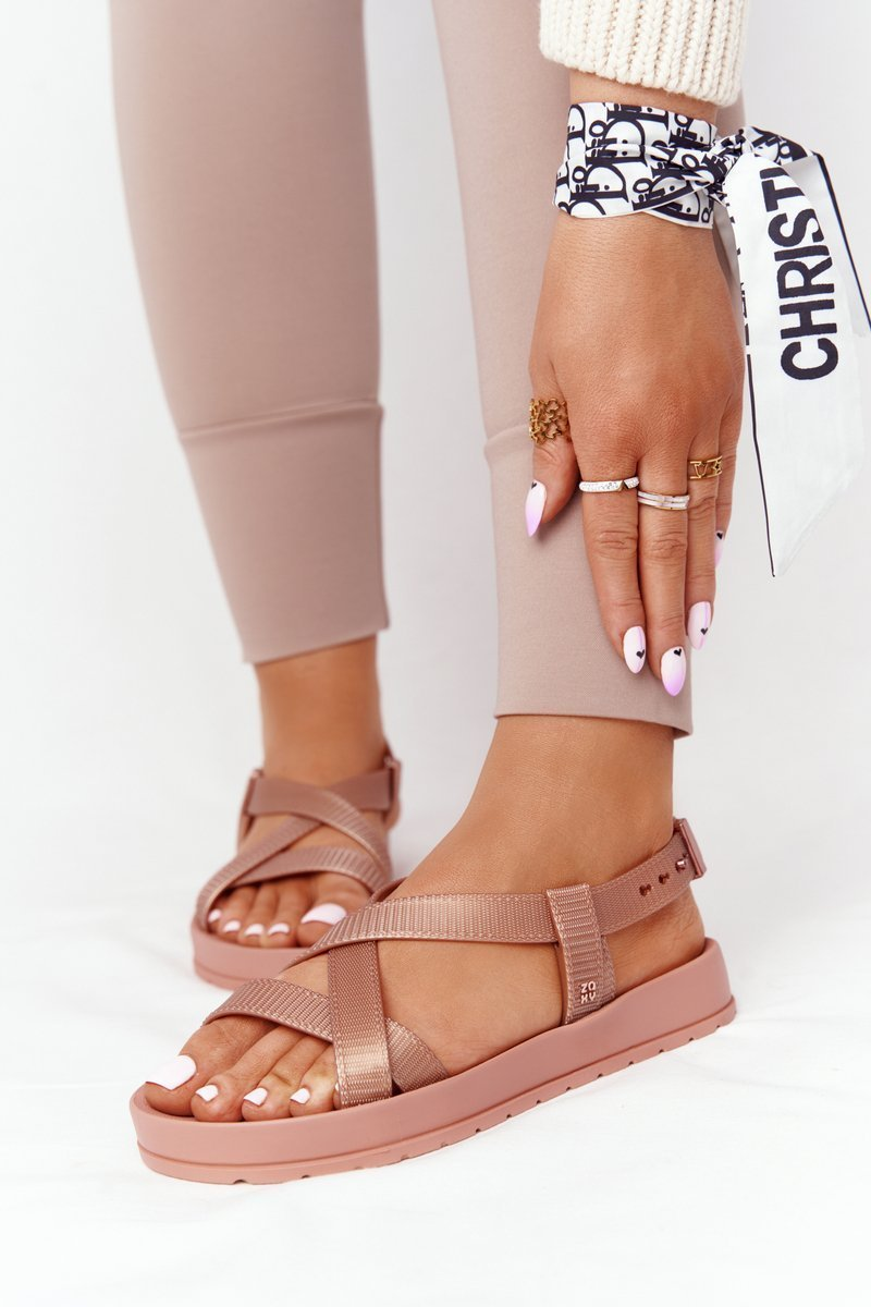 Fragrant Rubber Sandals Eco Friendly ZAXY HH285167 Nude