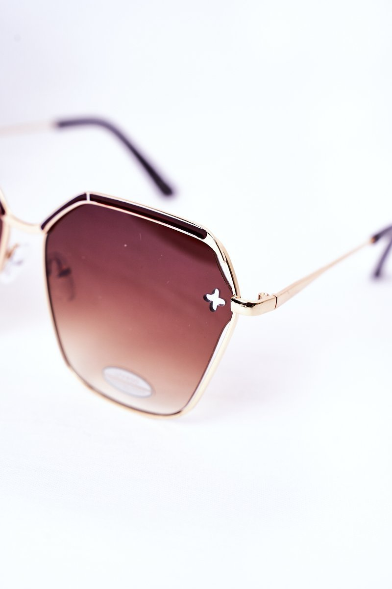 Geometric Sunglasses Brown Ombre