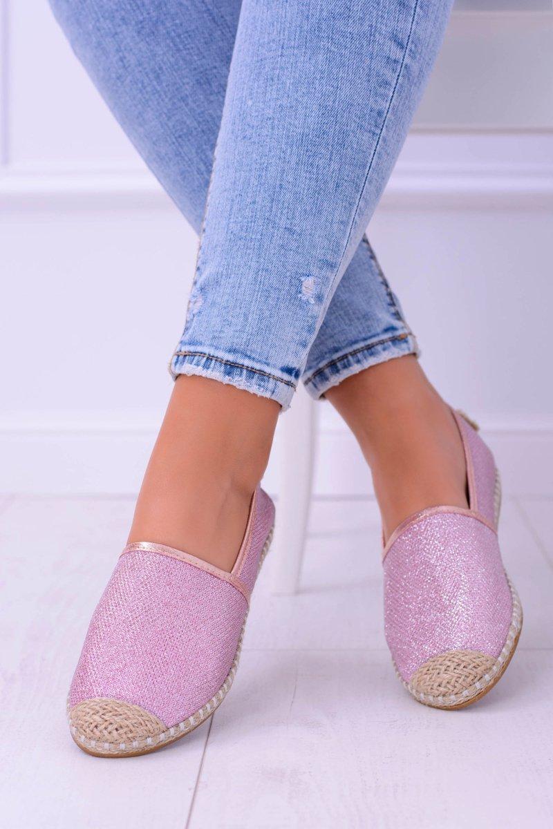 Glitter Espadrilles Lu Boo Pink