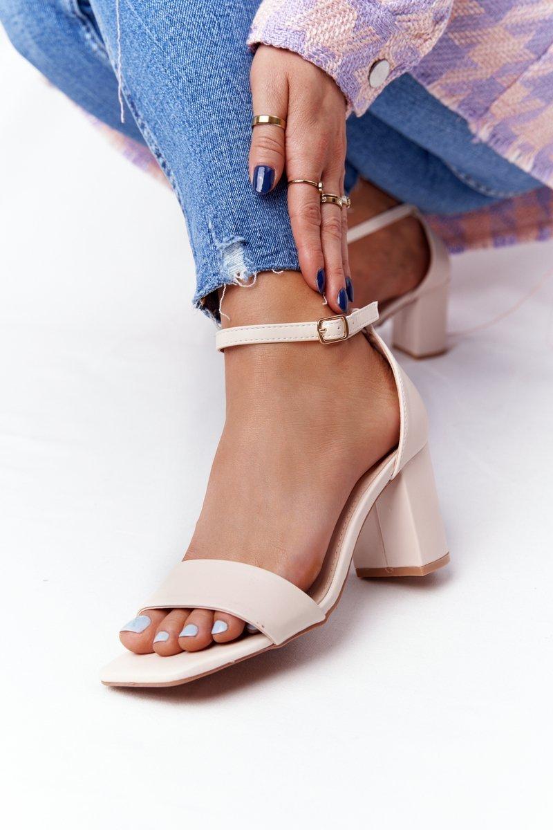 High Heel Sandals Beige Born This Way