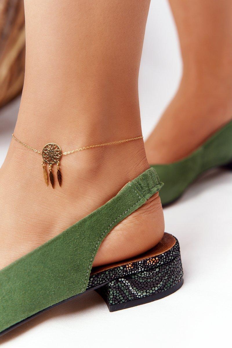 High-Heeled Ballerinas Maciejka Green 04482-09