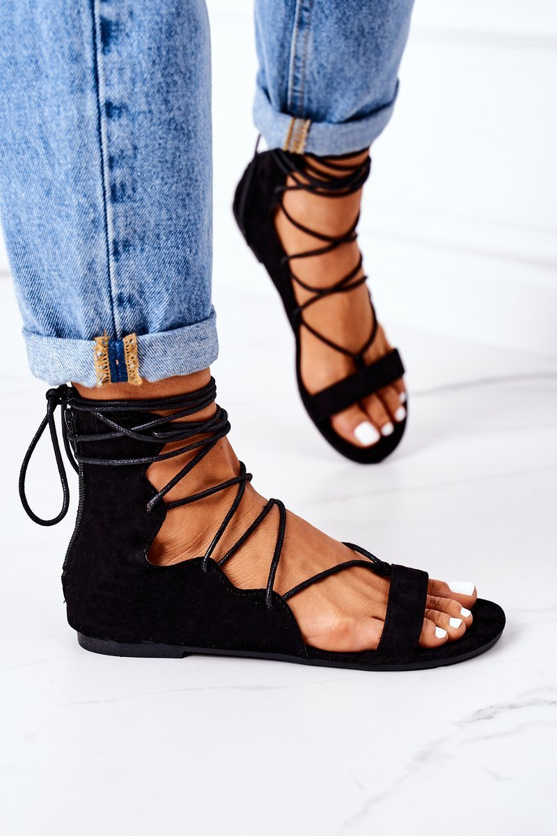 Lace-up Sandals Lu Boo Black