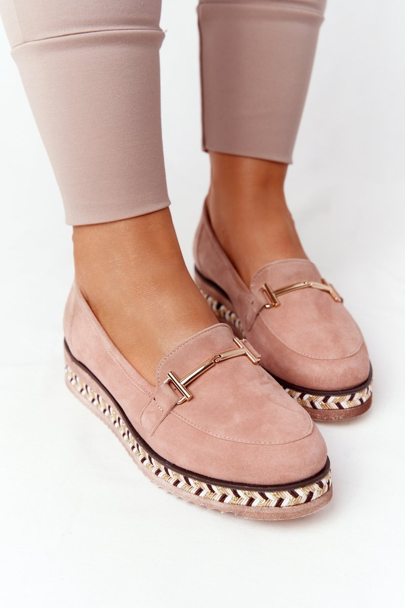 Loafers On A Platform Laura Messi 2284 Pink