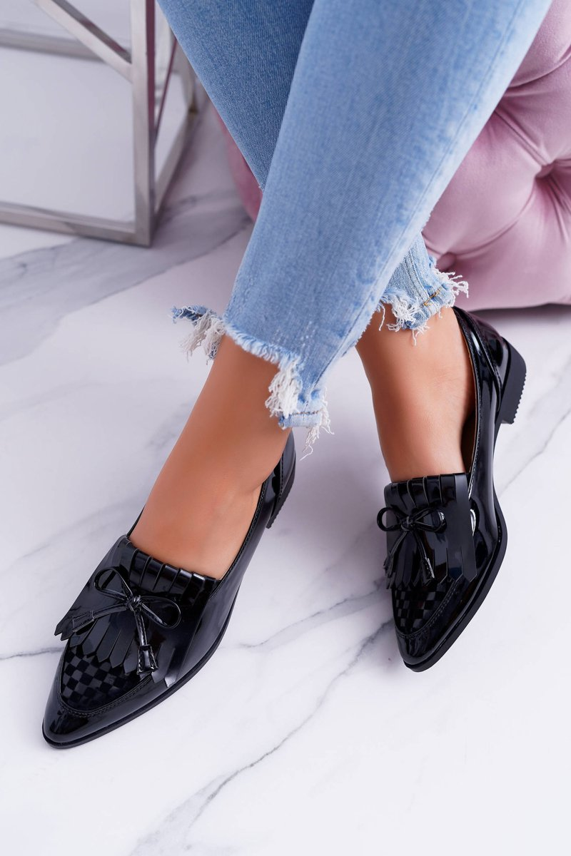 Loafers Women Lu Boo Black lacquered