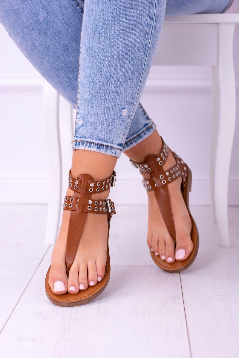 Lu Boo Camel Womens Sandals Elii