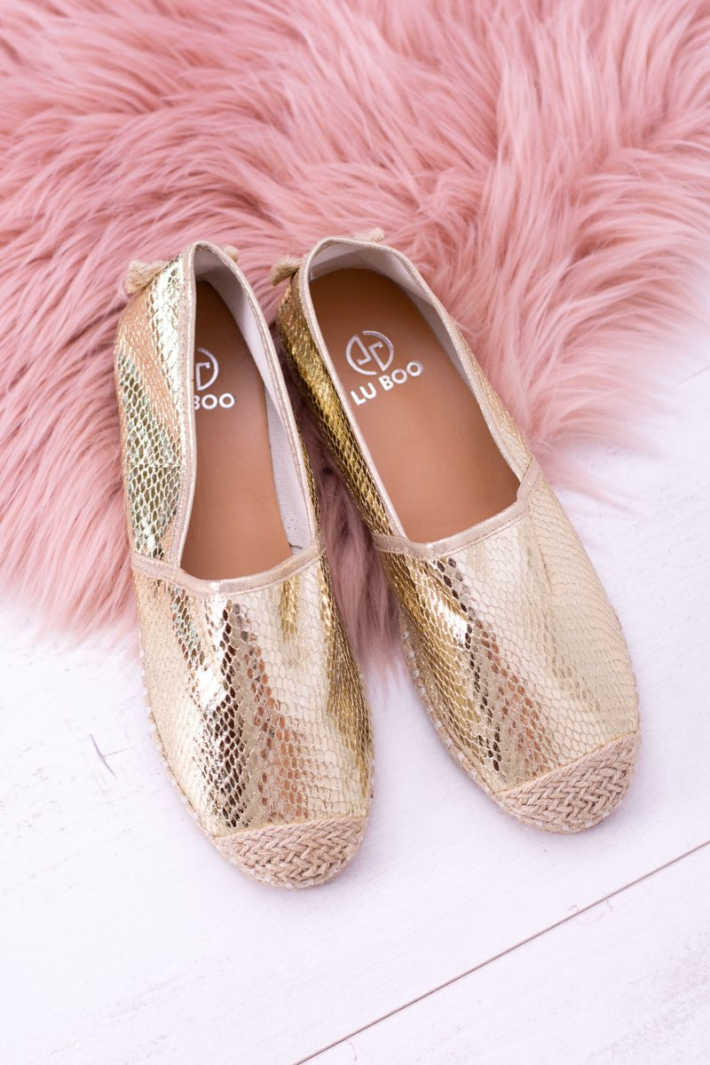 Lu Boo Slip-in Women's Gold Espadrilles Pray