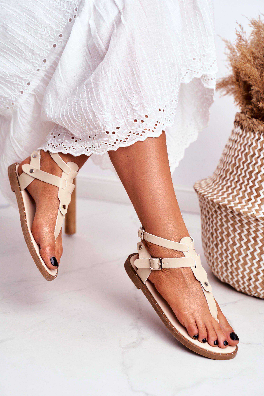 Lu Boo Women Beige Flip-flops Achilla