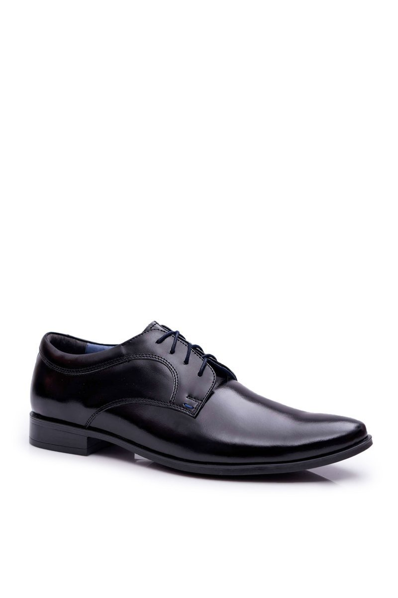 Men's Brogues Bednarek Elegant Leather Lacquered Black Gaspare