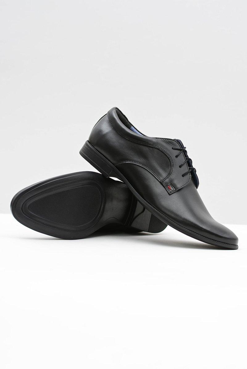 Men's Brogues Bednarek Elegant Leather Shoes Black Gaspare