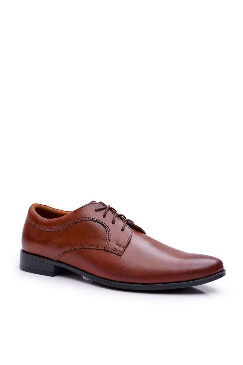 Men's Brogues Bednarek Elegant Leather Shoes Brown Gaspare