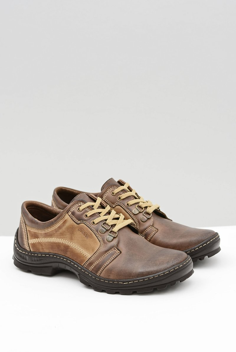 Men's Leather Classic Brown Shoes Favello
