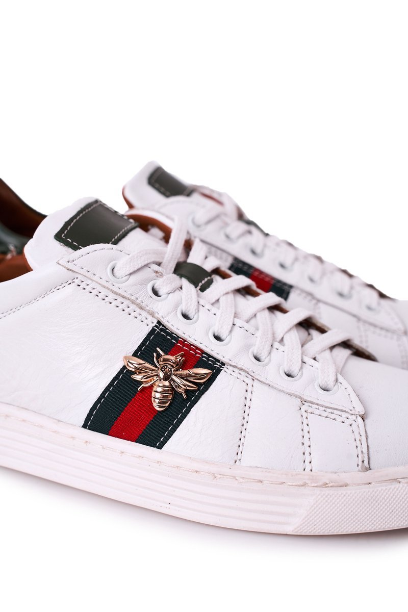 Men's Leather Shoes Trainers BEDNAREK White