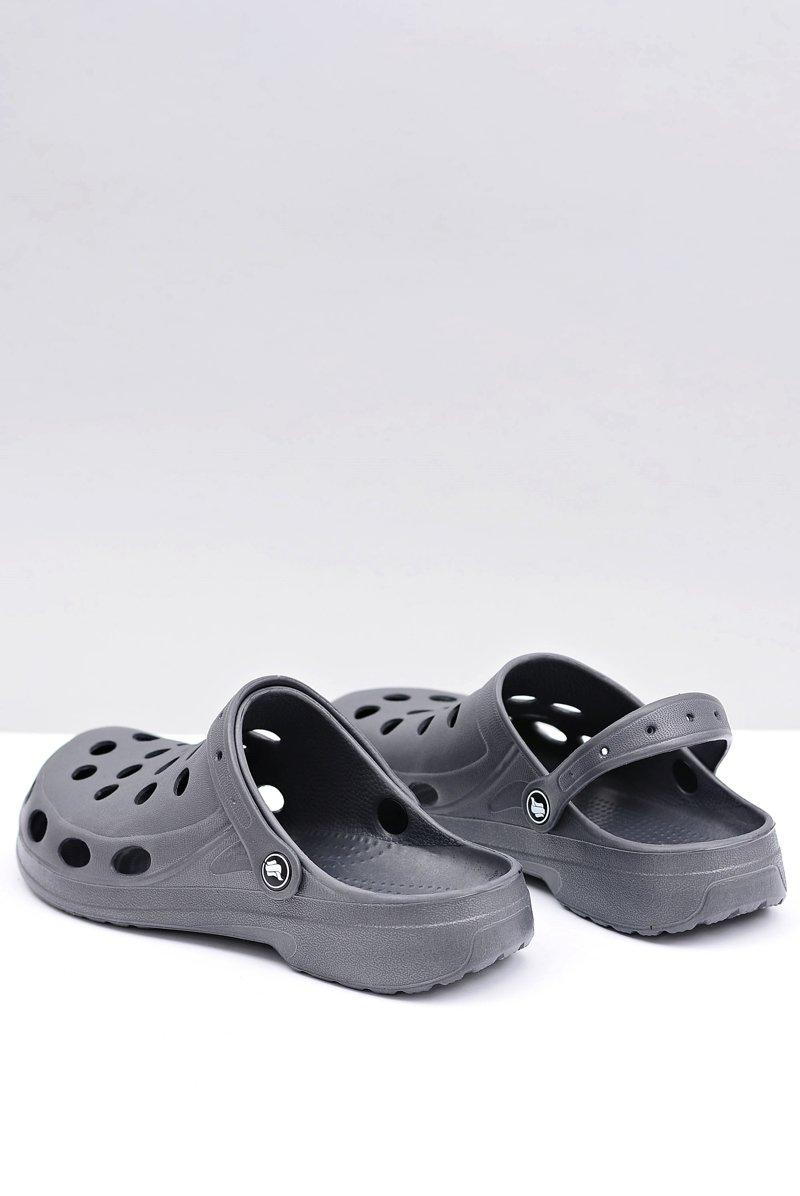 Men's Slides Sandals Crocs Grey