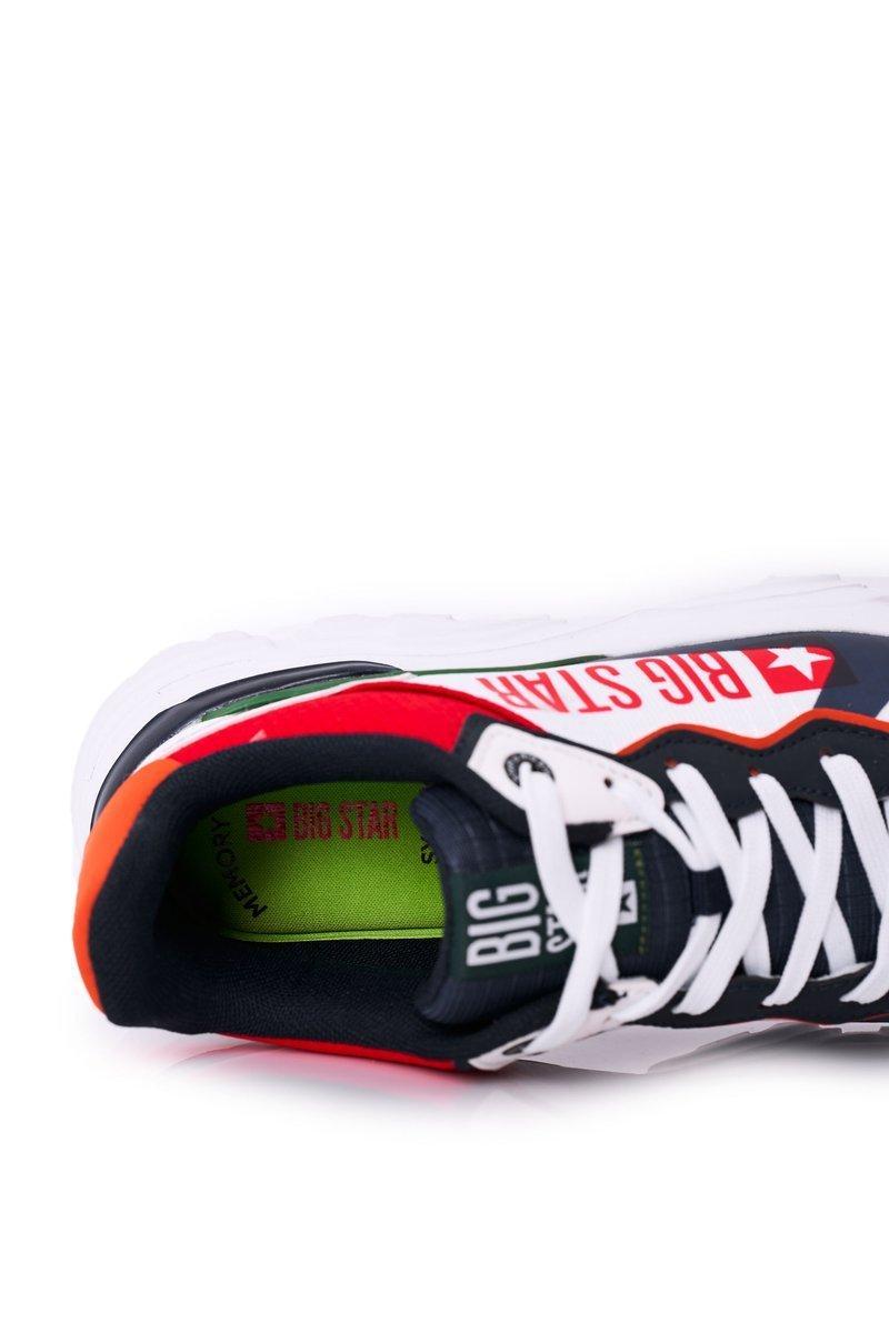 Men's Sport Shoes Memory Foam Big Star HH174208 White-Navy