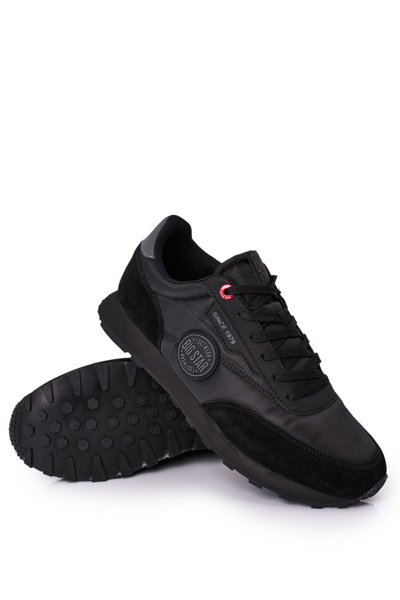 Men's Sport Shoes Memory Foam Big Star HH174250 Black