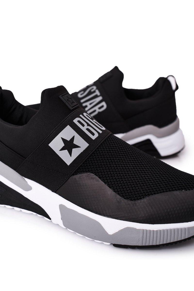 Men's Sport Slip-On Shoes Memory Foam Big Star HH174148 Black