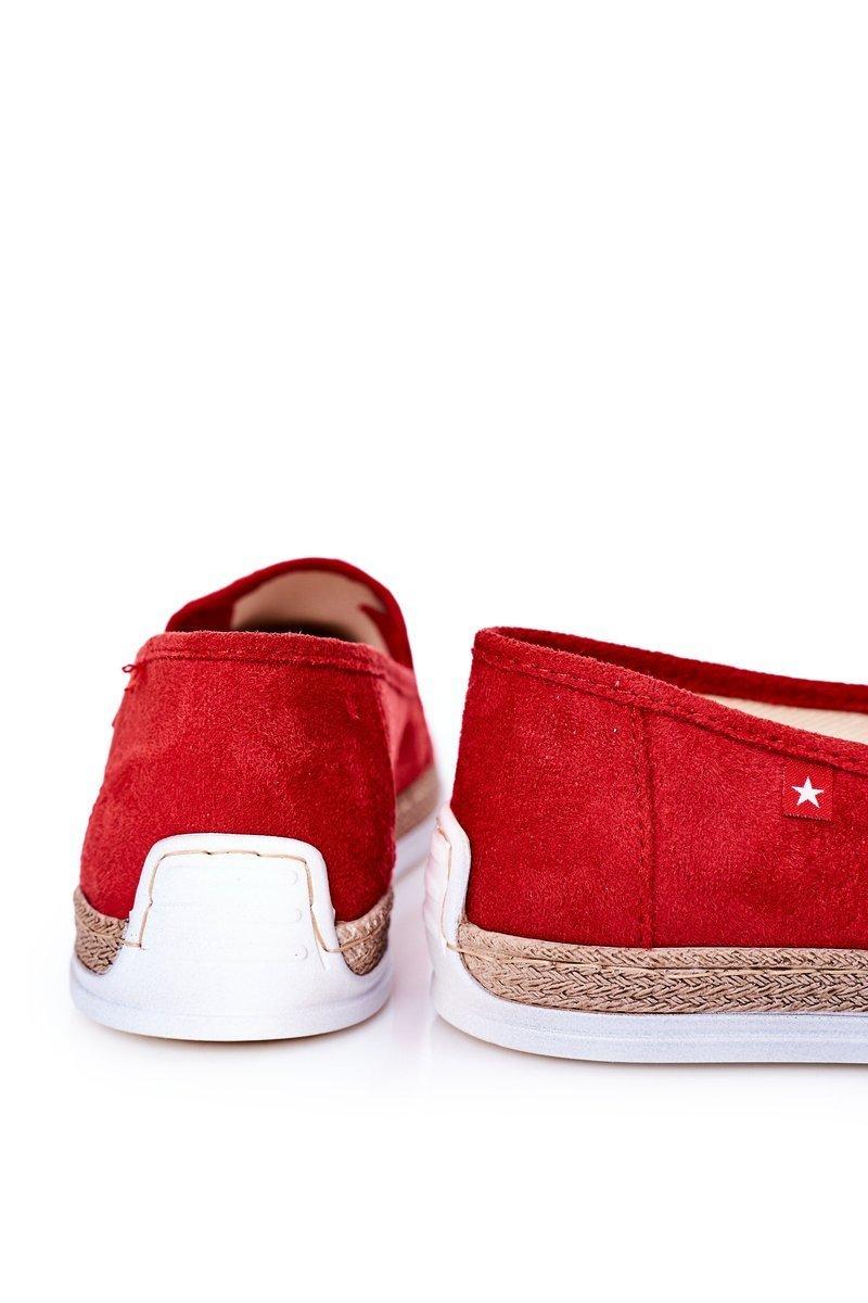 Men's Suede Espadrilles Big Star HH176007 Red
