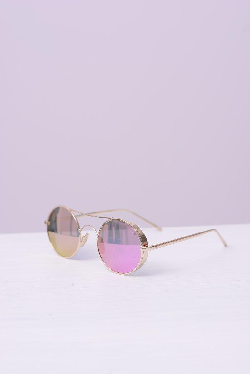 Okulary Prius PRE-12 Złote Lustrzane