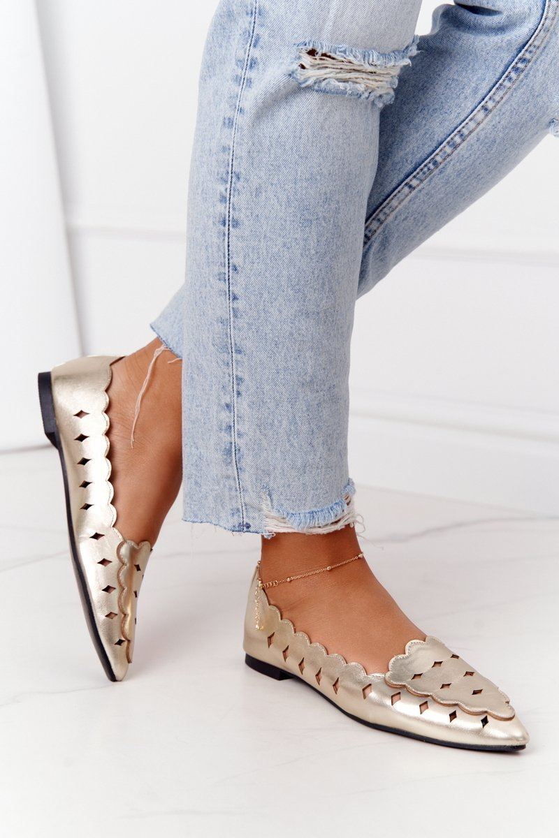 Openwork Women's Loafers Lu Boo Golden