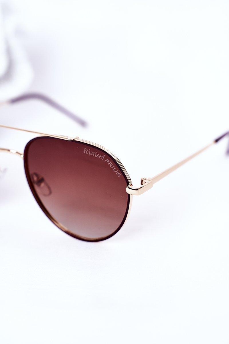 Polarized Sunglasses Aviator Brown
